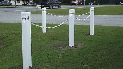 4X4 PVC Vinyl Stanchion Barrier Crowd Control Traffic VIP 18' Chain Kit 4 Post Crowd Control Fence