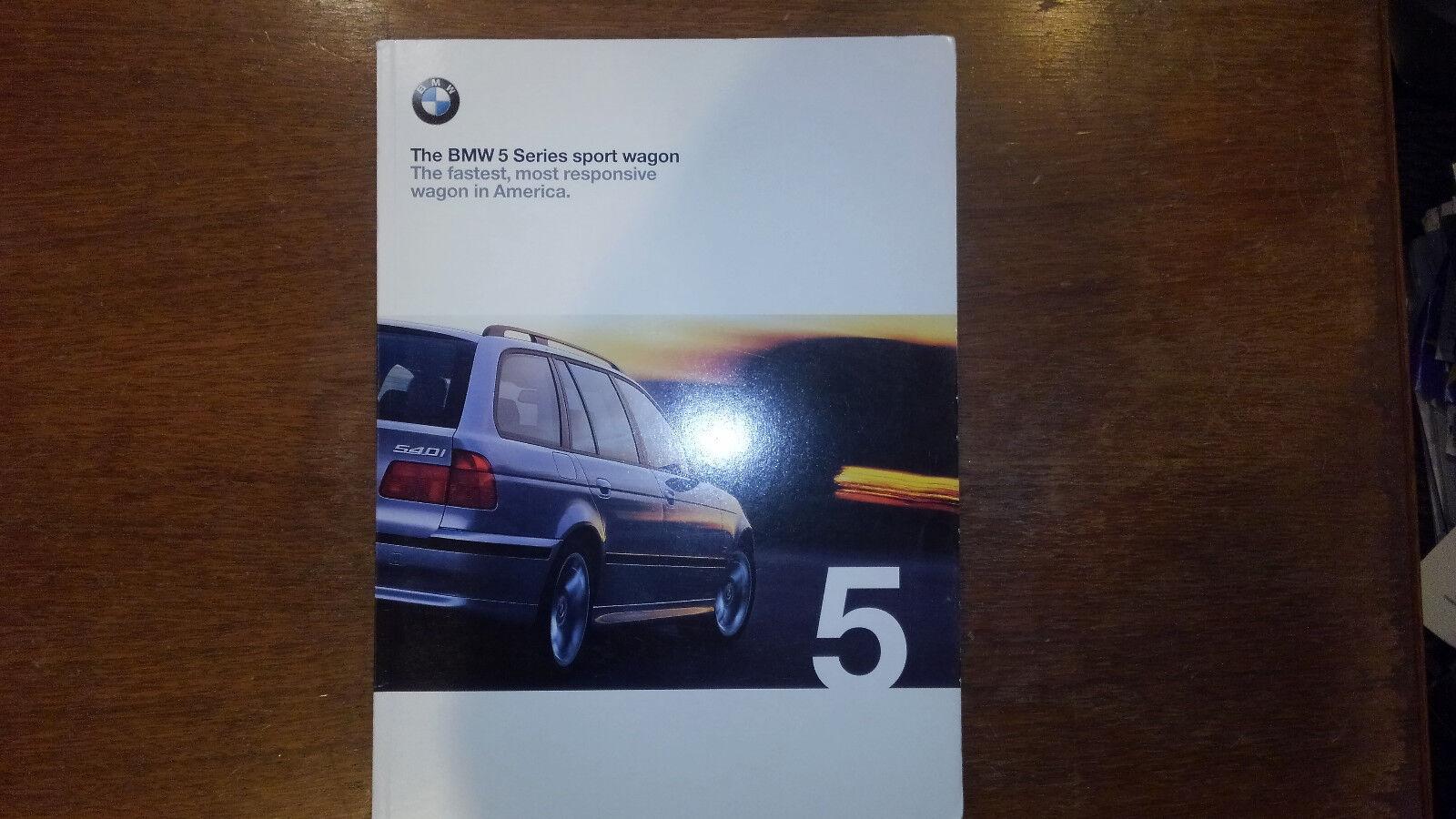1999 BMW 528i 540i 5-Series Sport Wagon Brochure + Tech Guide Pamphlet inside