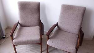 FLER Armchairs Retro Mid Century Timber Will Separate EXC CON Sandy Bay Hobart City Preview