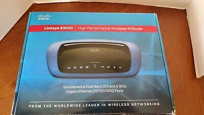 Linksys E3000 HP Wireless N Router Dual Band 2.4 and  5 GHZ NEW in Box  (Wireless-n-router-dual-band)