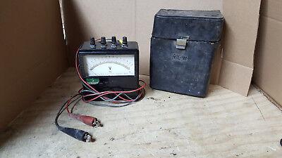 Vintage Yokogawa Portable Ac Voltmeter Type 2013 Wcase No Glass