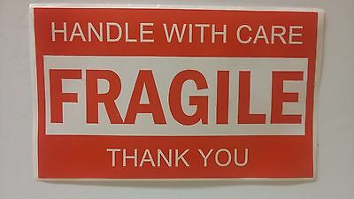 Fragile Stickers 3x5 Sold In Groups Of 10