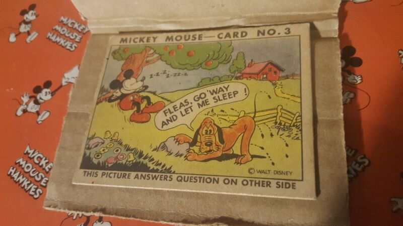 Vintage 1935 Mickey Mouse Bubble Gum Card No.3 by Walt Disney