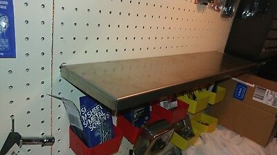 Stainless Steel Peg Board Shelf Read Description