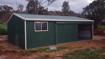 Sheds supplied and installed