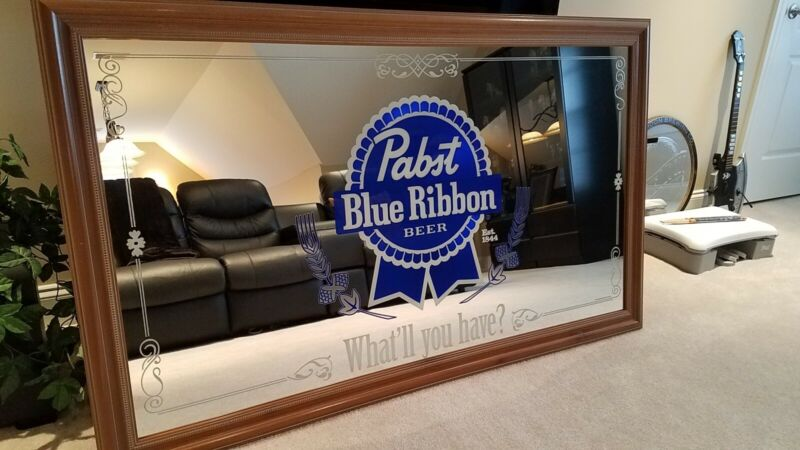 Pabst Blue Ribbon Mirror - Large 5