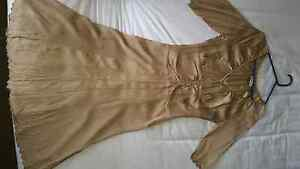 Gold coloured dress with button down front. Size 10. Edgecliff Eastern Suburbs Preview