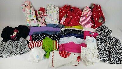26 Piece Girls 6 & 9 Month Clothing Lot Pajamas/Dress/Shirts/Leggings (#14)