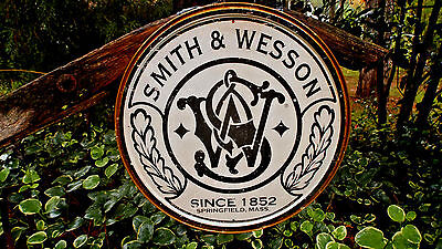 Vintage Signs Smith And Wesson Guns Rifles Ammunition Hunting Tin Signs Ammo New