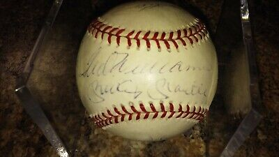 500 Home Run Baseball (500 home run club signed baseball Ted Williams, Mickey Mantle and more!  )