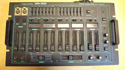+++ table de mixage realistic ssm-2200 tbe dj equaliser vumetres echo fader +++