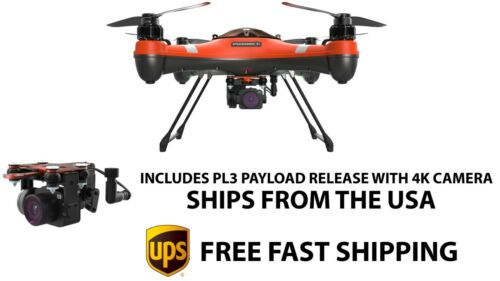 New Splash Drone 3+ w/ Payload Bait Release and Fishing Camera SwellPro Direct