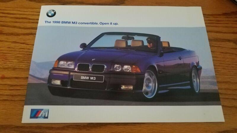 1998 BMW M3 Convertible E36 Sales Brochure