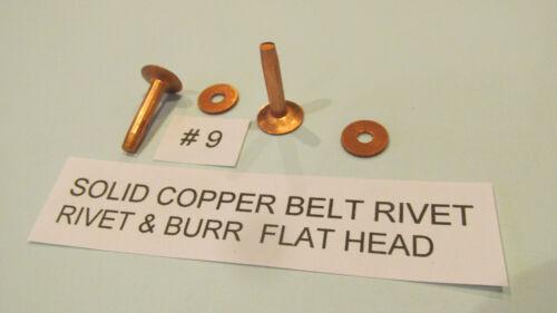 Solid COPPER Belt Rivet & Burr LEATHER RIVET Strap RIVET new super strong rivets