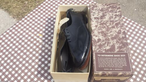 Vintage Funeral Shoes & Box Burial Shoes Grave Coffin Corpse Gothic