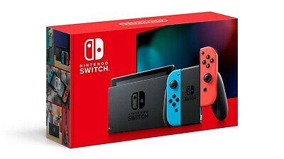 Nintendo Switch 32GB Neon Red/Neon Blue Console -- BONUS ITEMS worth $100+.