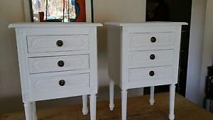 2 x White Wooden Bedside Drawers Bondi Junction Eastern Suburbs Preview