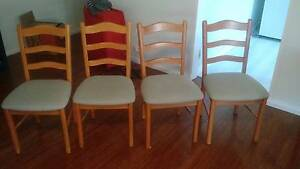 4 light coloured timber dining chairs Manly Vale Manly Area Preview