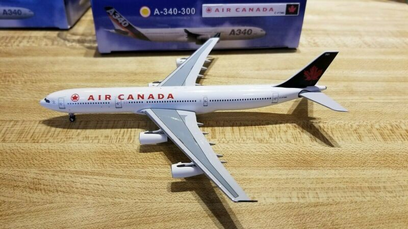 Aeroclassics Air Canada A340-312 1:400 ACC-FTNQ Green Maple leaf Tail Col C-FTNQ