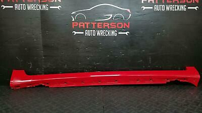 2008 AUDI A4 RIGHT ROCKER PANEL TRIM SIDE SKIRT MOULDING CLADDING RED LY3