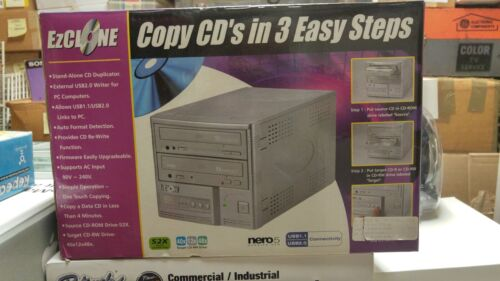 EZ Clone 52x CD Duplicator,Stand Alone or USB 2.0, New in Open Box