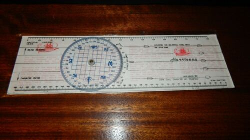 Yachting Charting Tool, Bluewater Course Plotting. Nautical Miles & Compass MINT