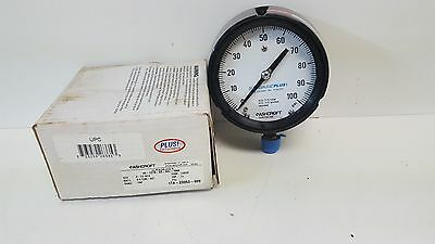 New Old Stock Ashcroft 0-100psi Duragauge Pressure Gauge 45-1279-ss-04l-100