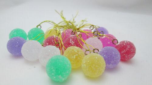 "Miniature 18 Round Plastic  1/2"" Gumdrop Christmas Ornaments -"