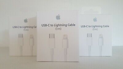 Genuine iphone Apple USB-C To Lightning Cable 1M Charger Lead Data Cable