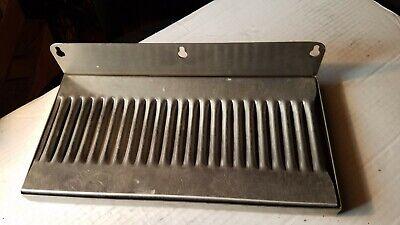 12 In Stainless Steel Wall Mount Drip Tray - 12- Kegerator Draft Tower Beer Keg