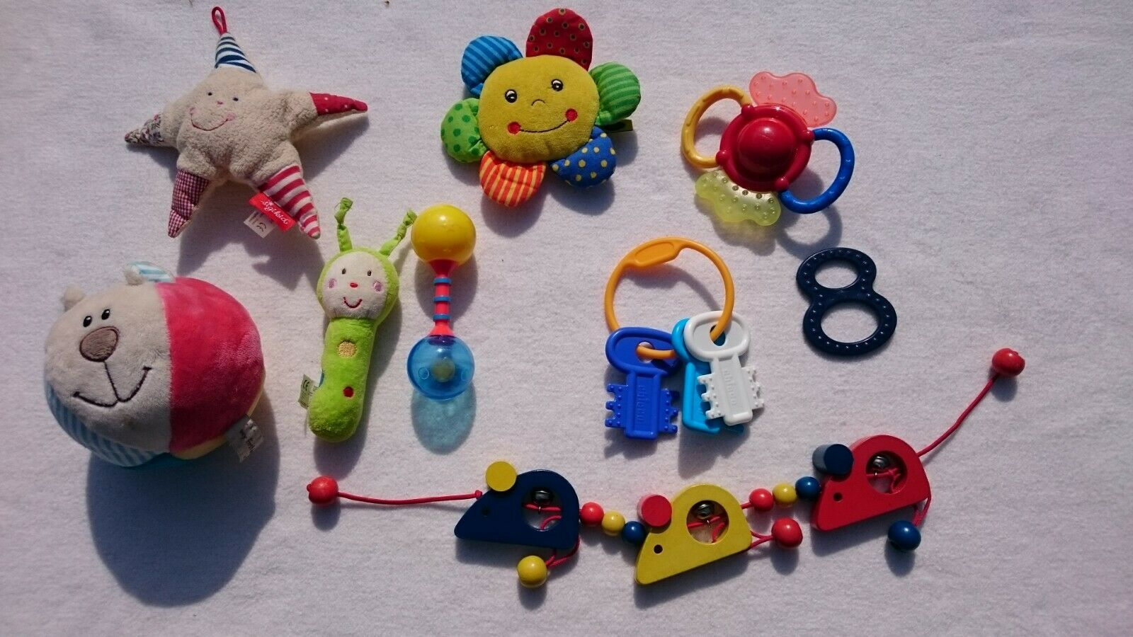 Großes Baby Spielzeug Paket 10 Teile Erstling Spiel ab 3 Monate