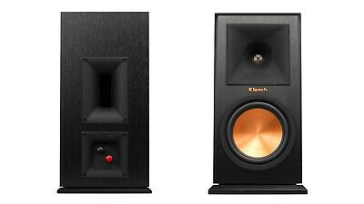 Klipsch RP-160M Loudspeakers PAIR Ebony (Black) NEW Official Warranty