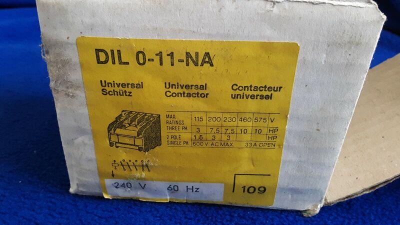 NEW KLOCKNER MOELLER DIL 0-11-NA contactor, motor starter relay, 120 V AC coil