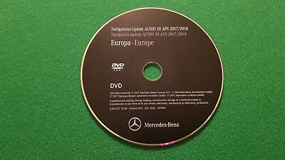 2018 Mercedes-Benz DVD Audio 50 Aps Europa NTG4 W204 C-Klasse LAST ACTUAL MAPS