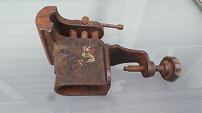 Antique Table Bench Vise 3 Jaws Very Good Condition Original Finish