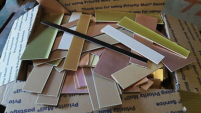 4 lbs. Copper Clad Laminate  SINGLE & DOUBLE SIDED TRIMMINGS. FREE SHIPPING.
