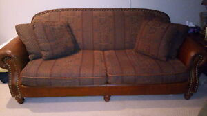 Leather and fabric Decorest couch.