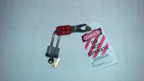 "NEW HEAVY DUTY PERSONAL LOCKOUT / TAG OUT KIT  WITH LOCK, 1"" STEEL HASP, TAG"