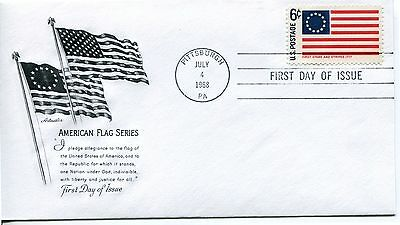 1968 HISTORIC FLAGS SERIES-THE STARS & STRIPES FLAG ARTMASTER CACHET UNADDR FDC