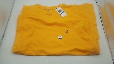 Nautica Men Slim Fit  T-Shirt XL  Orange Summer 16 VR5288