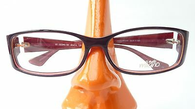Brillen Fassung Kunststoff Damen breite Bügel braun rot leicht günstig Gr S