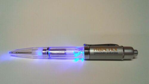 "PRAVACHOL Light Up Drug Rep Pharmaceutical Refillable Black Ink Pen NOS ""As Is"""