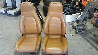 Mazda Mx5 MK1 V Spec Tan Leather seats drivers seat has been retrimmed