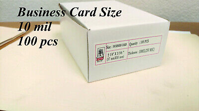Business Card 10 mil 100 Pcs FREE SHIPPING Laminating Pouches Thermal  ()