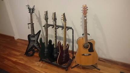 Electric guitars ibanez Washburn Schecter
