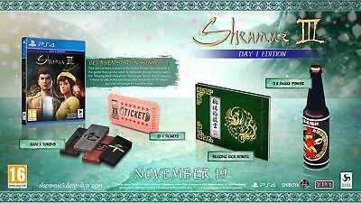 Shenmue 3: Day One Edition (PS4) In Stock Now Free UK P&P New & Sealed UK PAL