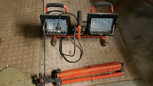 Work lights with stand Invermay Launceston Area Preview
