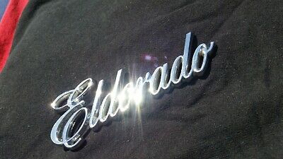 Cadillac Eldorado Plastic Chrome Glue On Emblem 1986 1987 1988 1989 1990 1991 OE