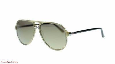 b4250d60ae4 NEW Gucci Men Pilot Sunglasses GG0015 004 Havana Black Bronze Flash Lens  58mm