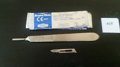 Scalpel Blades 15 Includes 4 Metal Handle Suitable For Dermaplaning Crafts